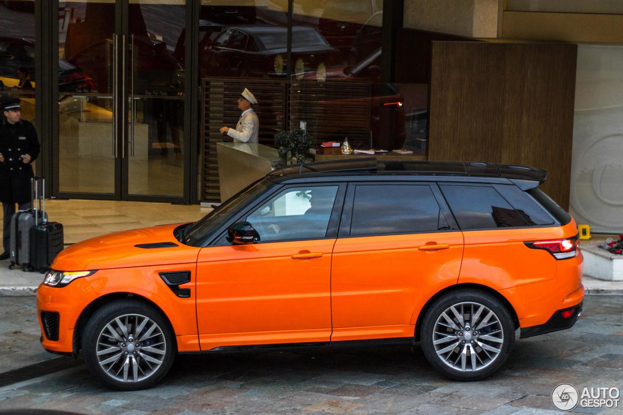 land rover range rover sport svr 7 janvier 2016 autogespot. Black Bedroom Furniture Sets. Home Design Ideas