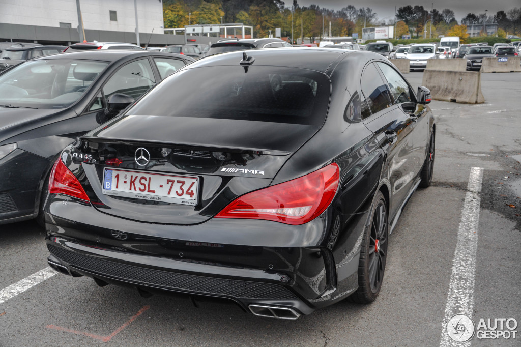 mercedes benz cla 45 amg edition 1 c117 8 january 2016 autogespot. Black Bedroom Furniture Sets. Home Design Ideas