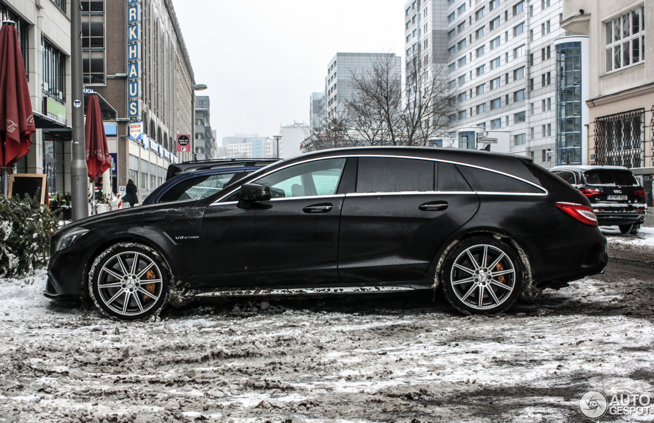 mercedes benz cls 63 amg s x218 shooting brake 2015 8 januar 2016 autogespot. Black Bedroom Furniture Sets. Home Design Ideas