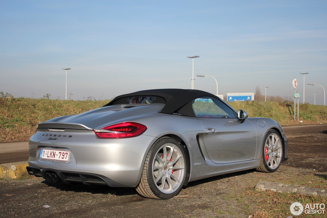 porsche 981 boxster spyder 21 january 2016 autogespot. Black Bedroom Furniture Sets. Home Design Ideas
