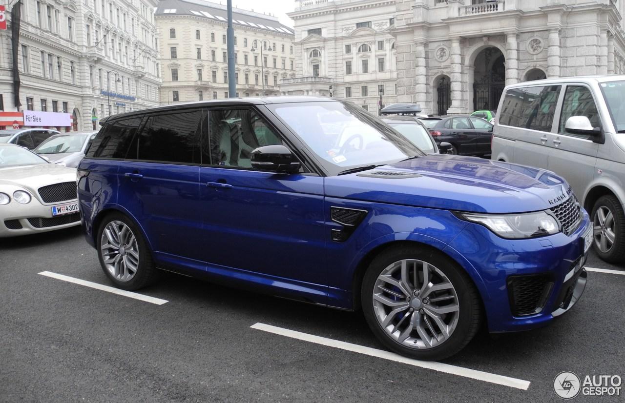 Land Rover Range Rover Sport Svr 30 January 2016