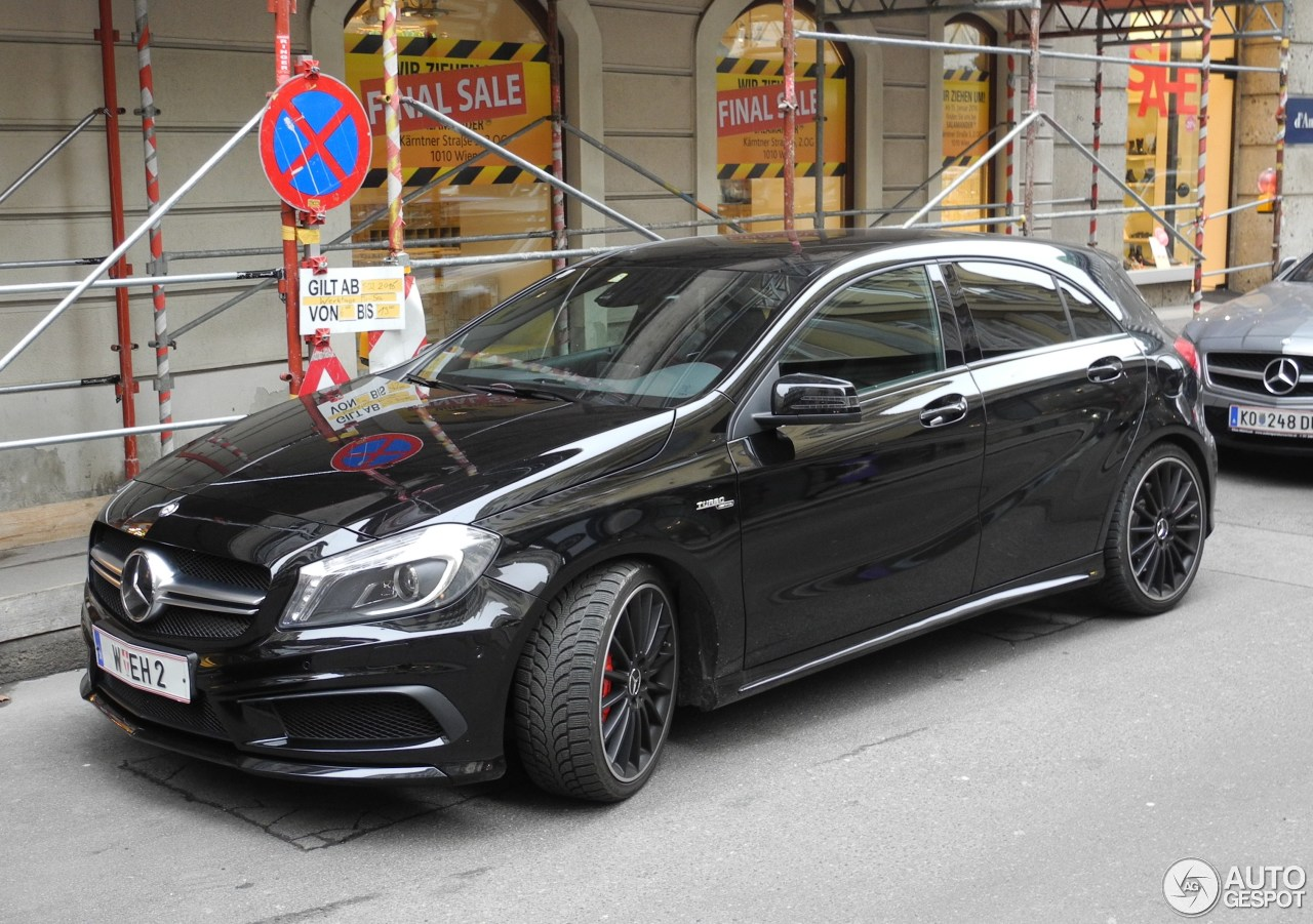 mercedes benz a 45 amg 31 janvier 2016 autogespot. Black Bedroom Furniture Sets. Home Design Ideas