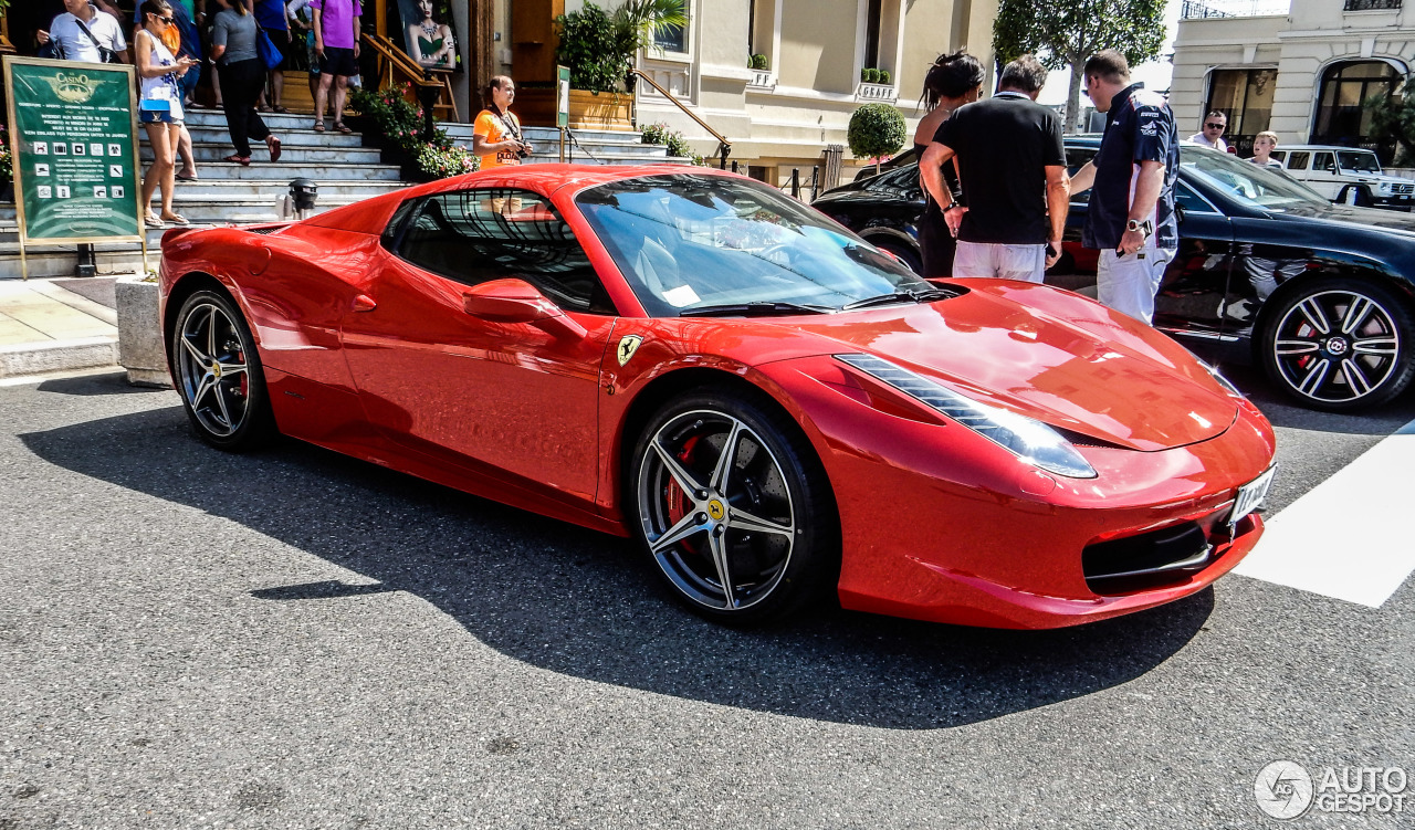 ferrari 458 spider 1 february 2016 autogespot. Black Bedroom Furniture Sets. Home Design Ideas