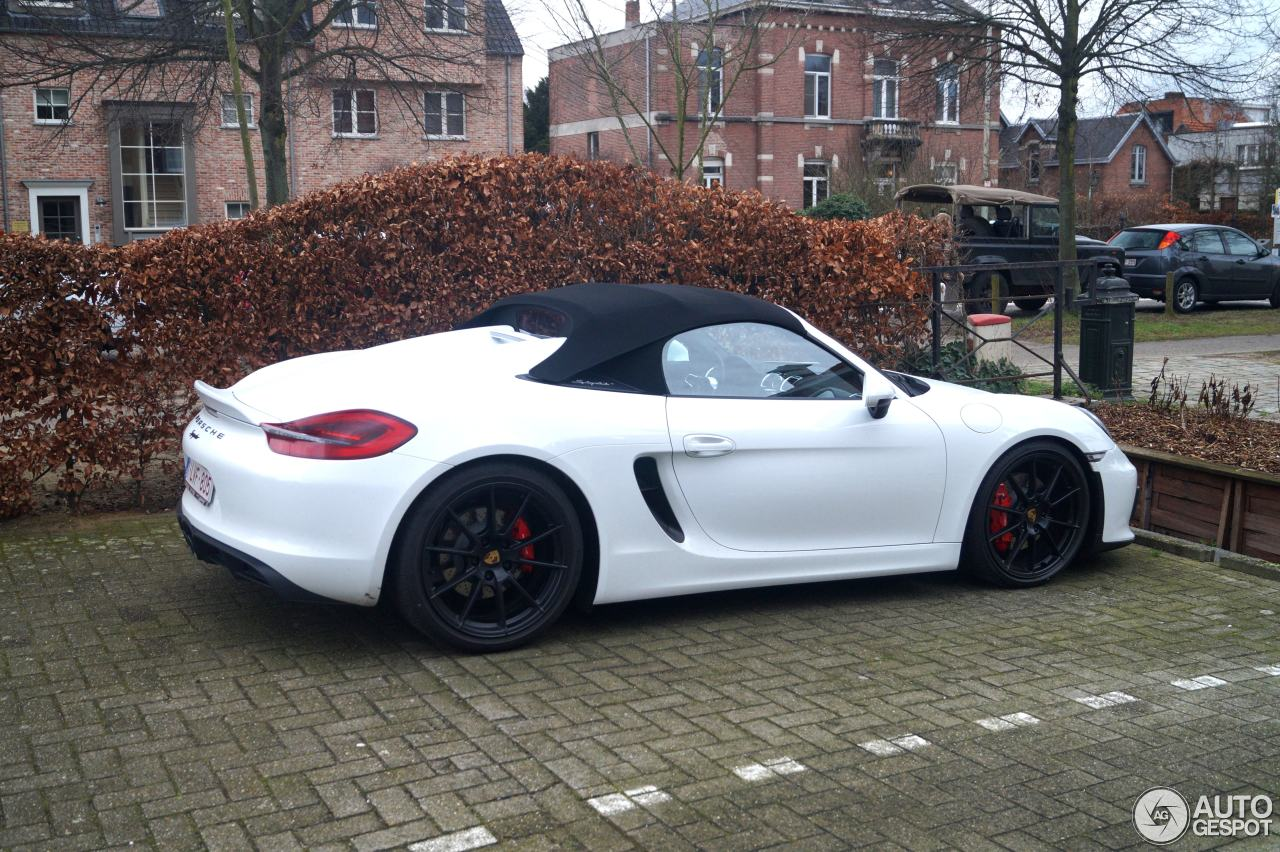 porsche 981 boxster spyder 8 february 2016 autogespot. Black Bedroom Furniture Sets. Home Design Ideas