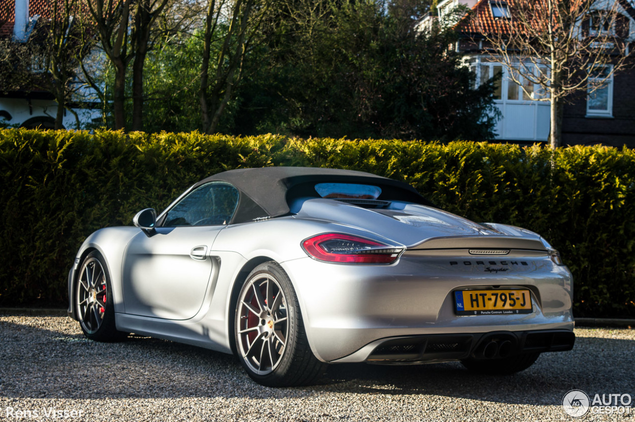 porsche 981 boxster spyder 24 february 2016 autogespot. Black Bedroom Furniture Sets. Home Design Ideas