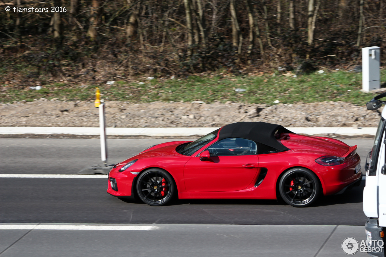 porsche 981 boxster spyder 25 february 2016 autogespot. Black Bedroom Furniture Sets. Home Design Ideas