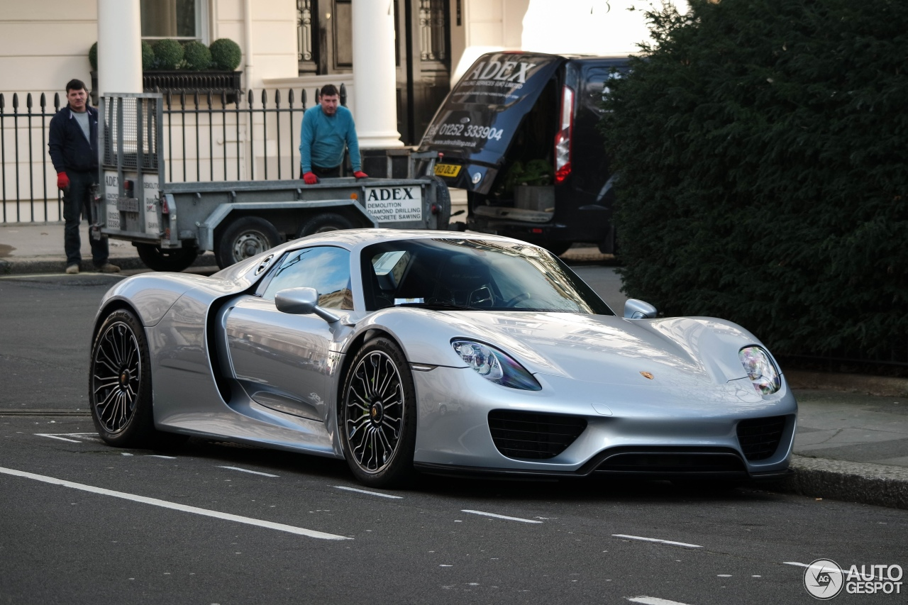 porsche 918 spyder 27 february 2016 autogespot. Black Bedroom Furniture Sets. Home Design Ideas