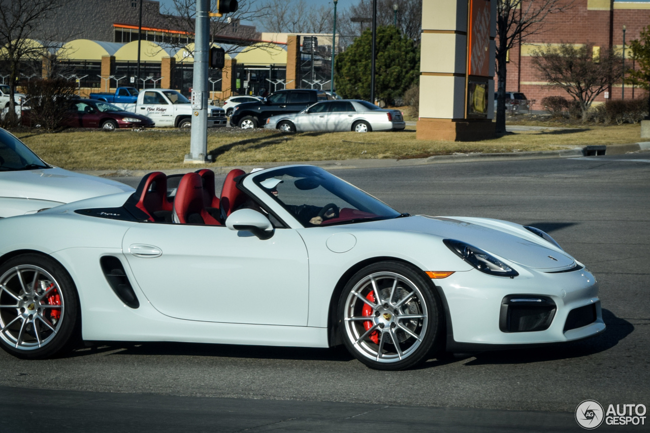 porsche 981 boxster spyder 29 february 2016 autogespot. Black Bedroom Furniture Sets. Home Design Ideas