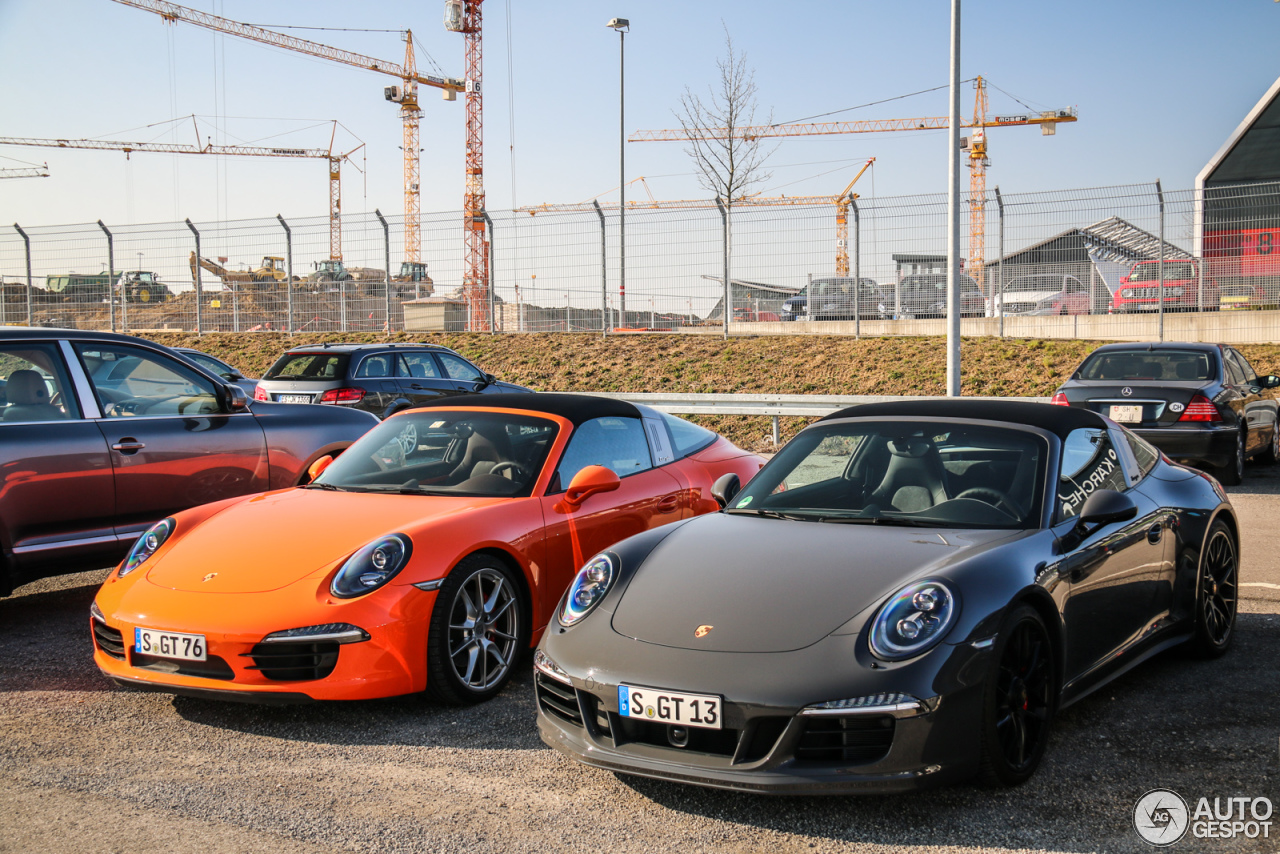 porsche 991 targa 4 gts 17 march 2016 autogespot. Black Bedroom Furniture Sets. Home Design Ideas