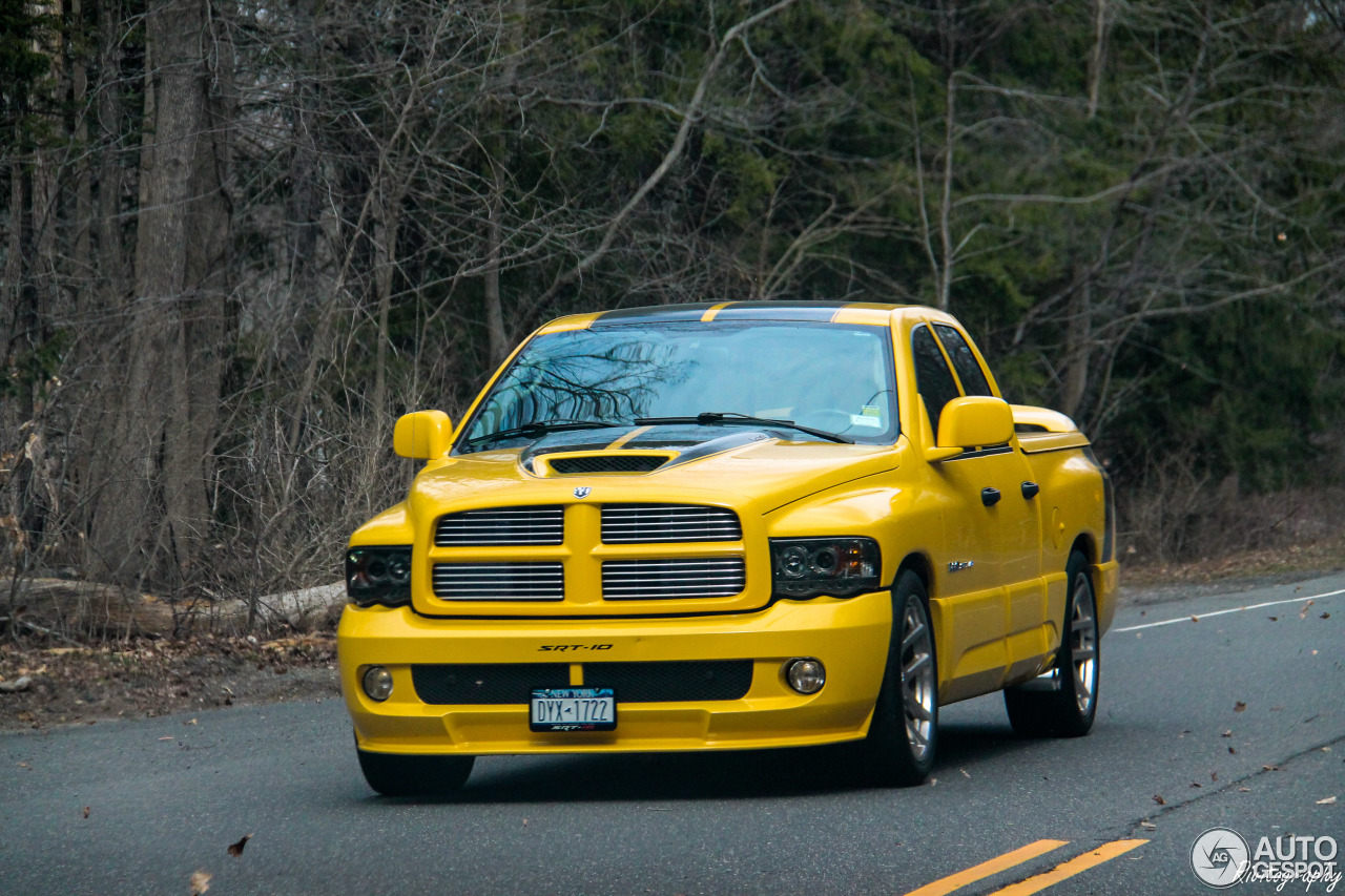 dodge ram srt 10 quad cab yellow fever edition 20 march 2016 autogespot. Black Bedroom Furniture Sets. Home Design Ideas
