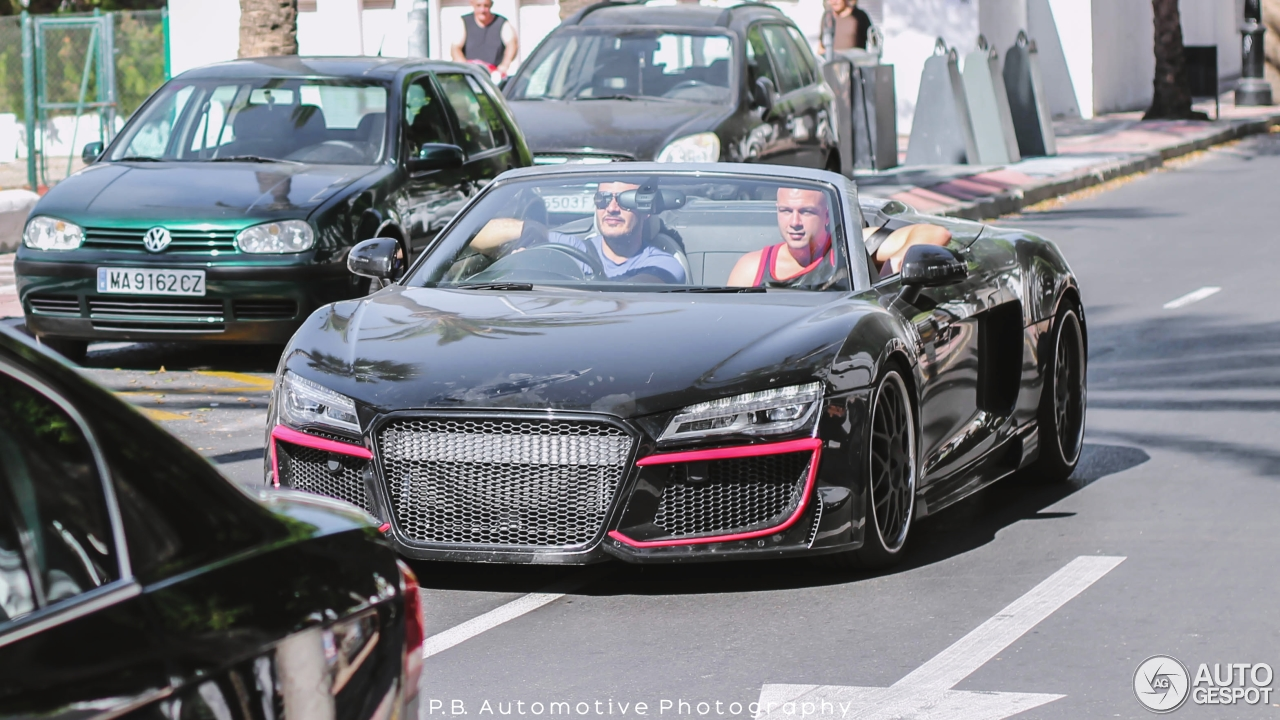 audi r8 v10 spyder regula tuning 25 march 2016 autogespot. Black Bedroom Furniture Sets. Home Design Ideas