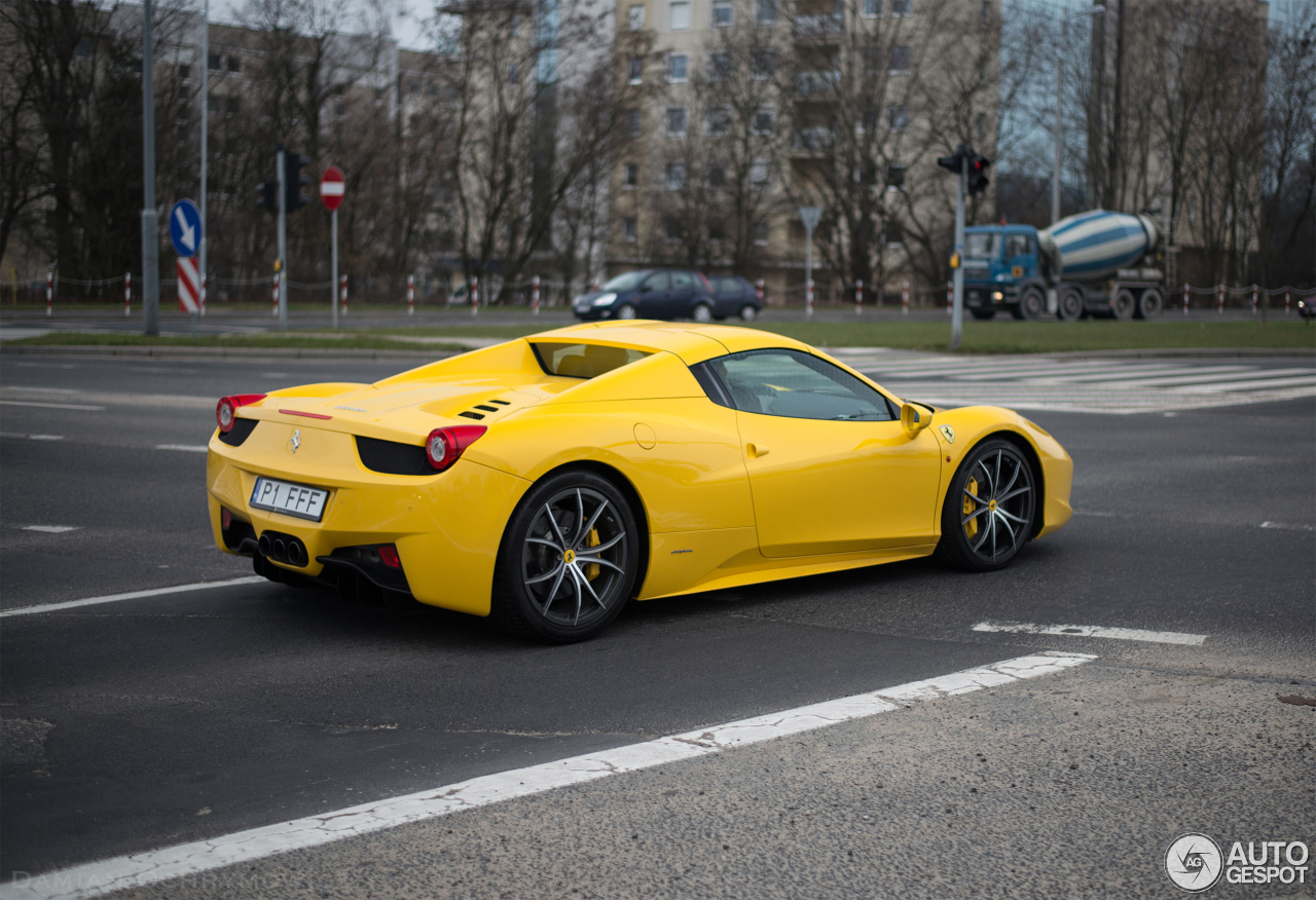 ferrari 458 spider 25 march 2016 autogespot. Black Bedroom Furniture Sets. Home Design Ideas