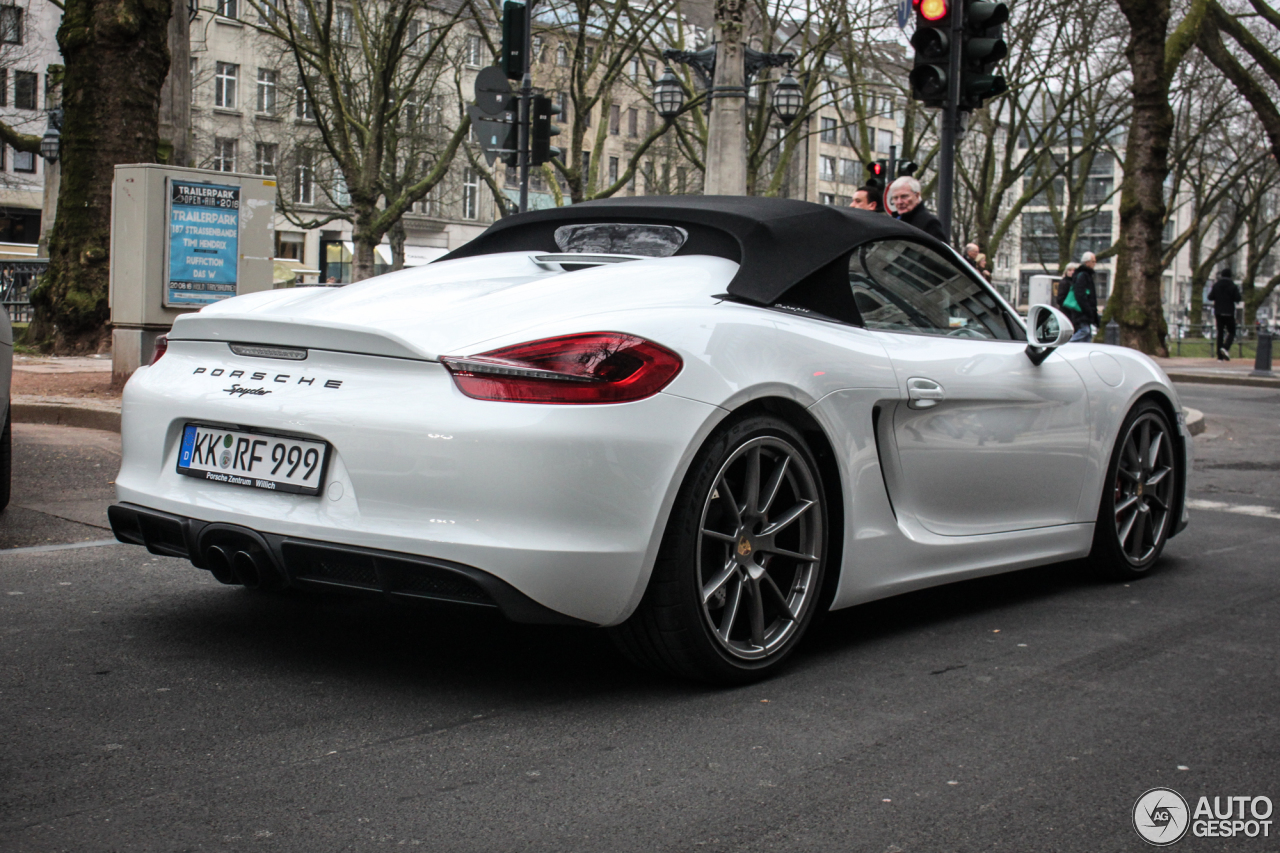 porsche 981 boxster spyder 25 march 2016 autogespot. Black Bedroom Furniture Sets. Home Design Ideas