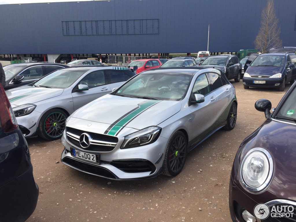 mercedes amg a45 amg petronas edition 3 april 2016 autogespot. Black Bedroom Furniture Sets. Home Design Ideas