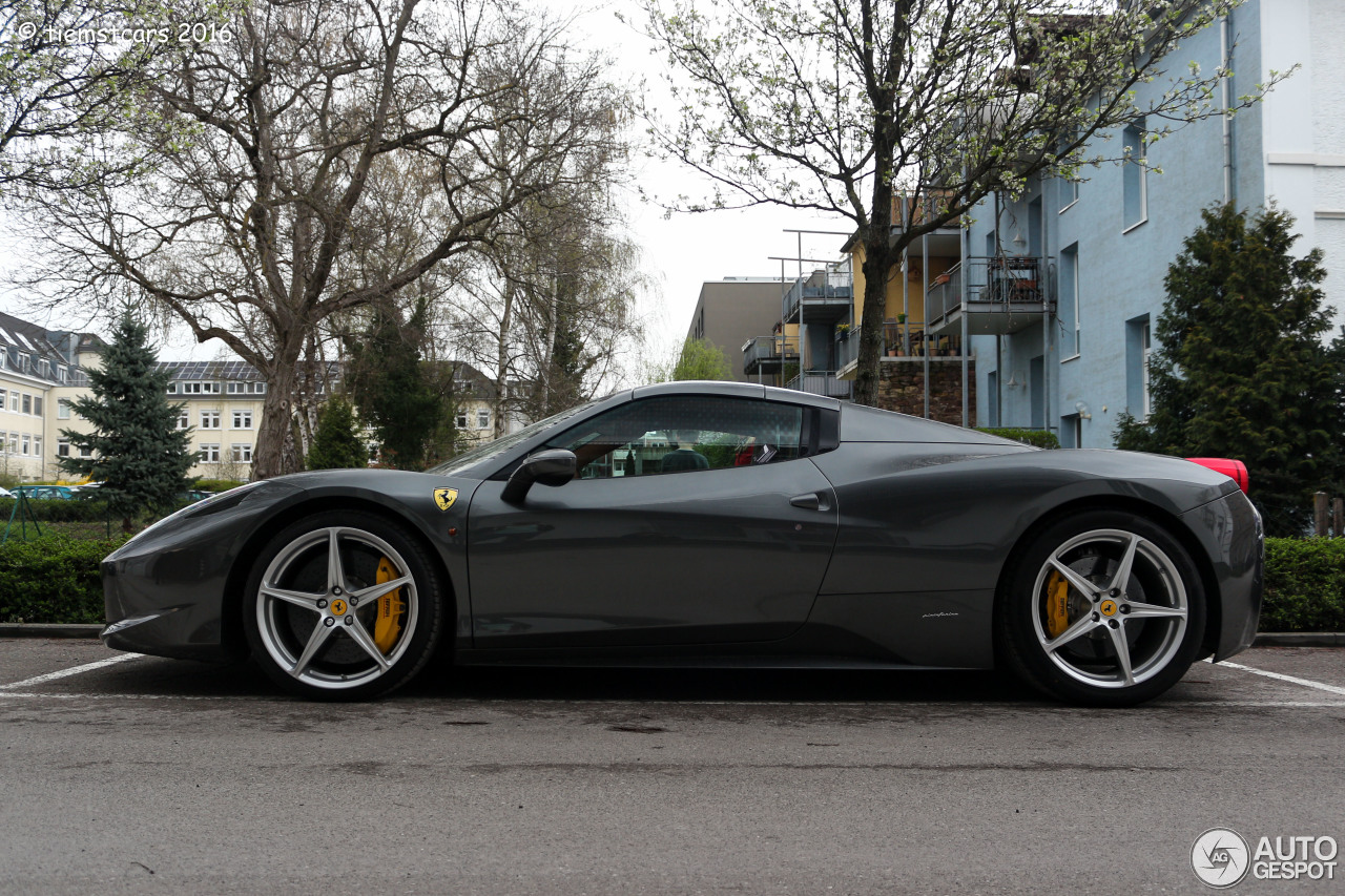 ferrari 458 spider 6 april 2016 autogespot. Black Bedroom Furniture Sets. Home Design Ideas