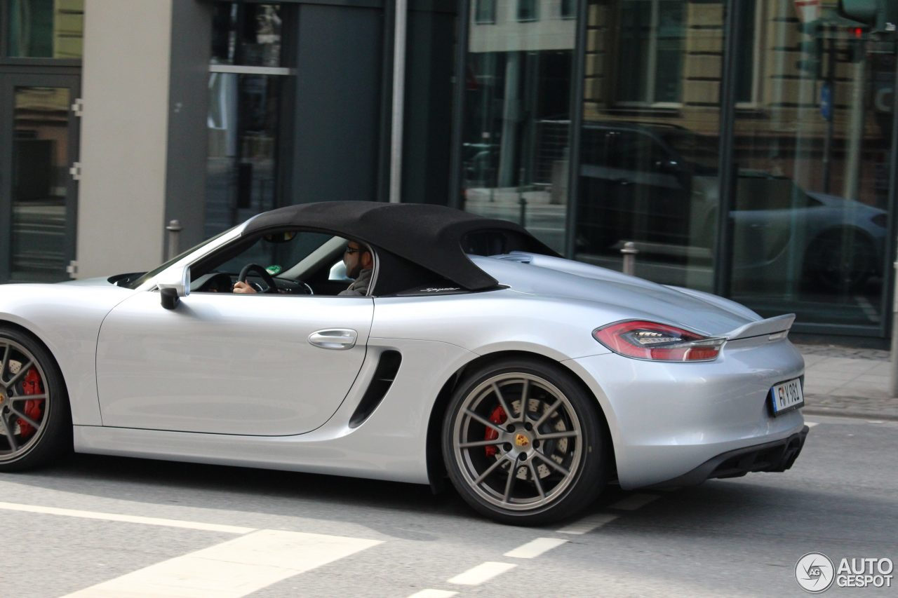 porsche 981 boxster spyder 16 april 2016 autogespot. Black Bedroom Furniture Sets. Home Design Ideas