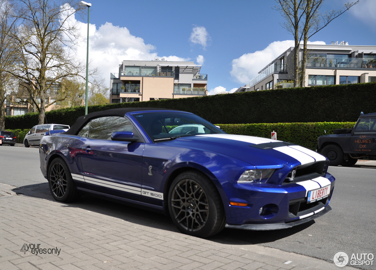 ford mustang shelby gt500 convertible 2014 17 abril 2016. Black Bedroom Furniture Sets. Home Design Ideas