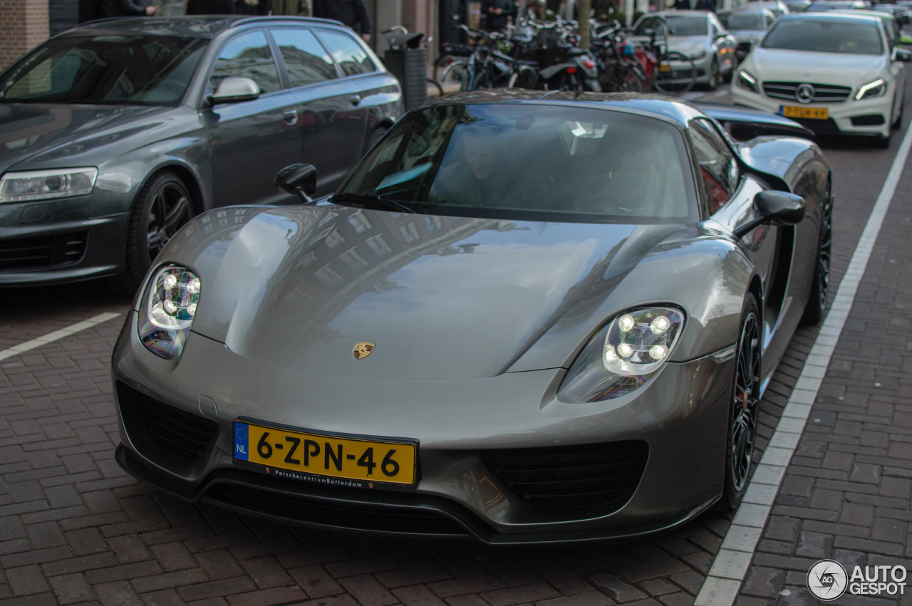 porsche 918 spyder weissach package 24 april 2016 autogespot. Black Bedroom Furniture Sets. Home Design Ideas