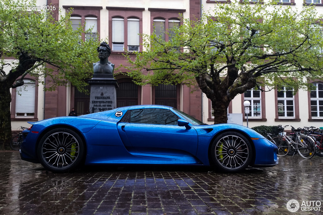 porsche 918 spyder 5 mai 2016 autogespot. Black Bedroom Furniture Sets. Home Design Ideas