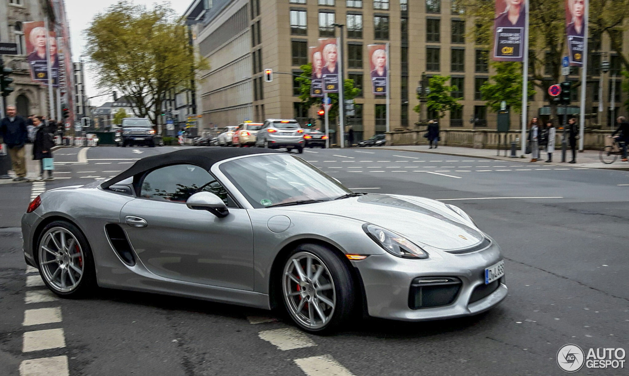 porsche 981 boxster spyder 5 may 2016 autogespot. Black Bedroom Furniture Sets. Home Design Ideas