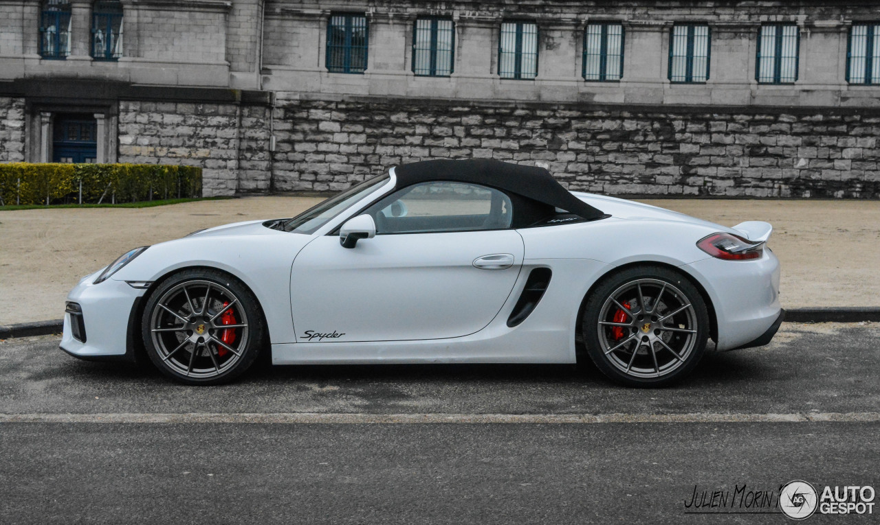 porsche 981 boxster spyder 8 may 2016 autogespot. Black Bedroom Furniture Sets. Home Design Ideas