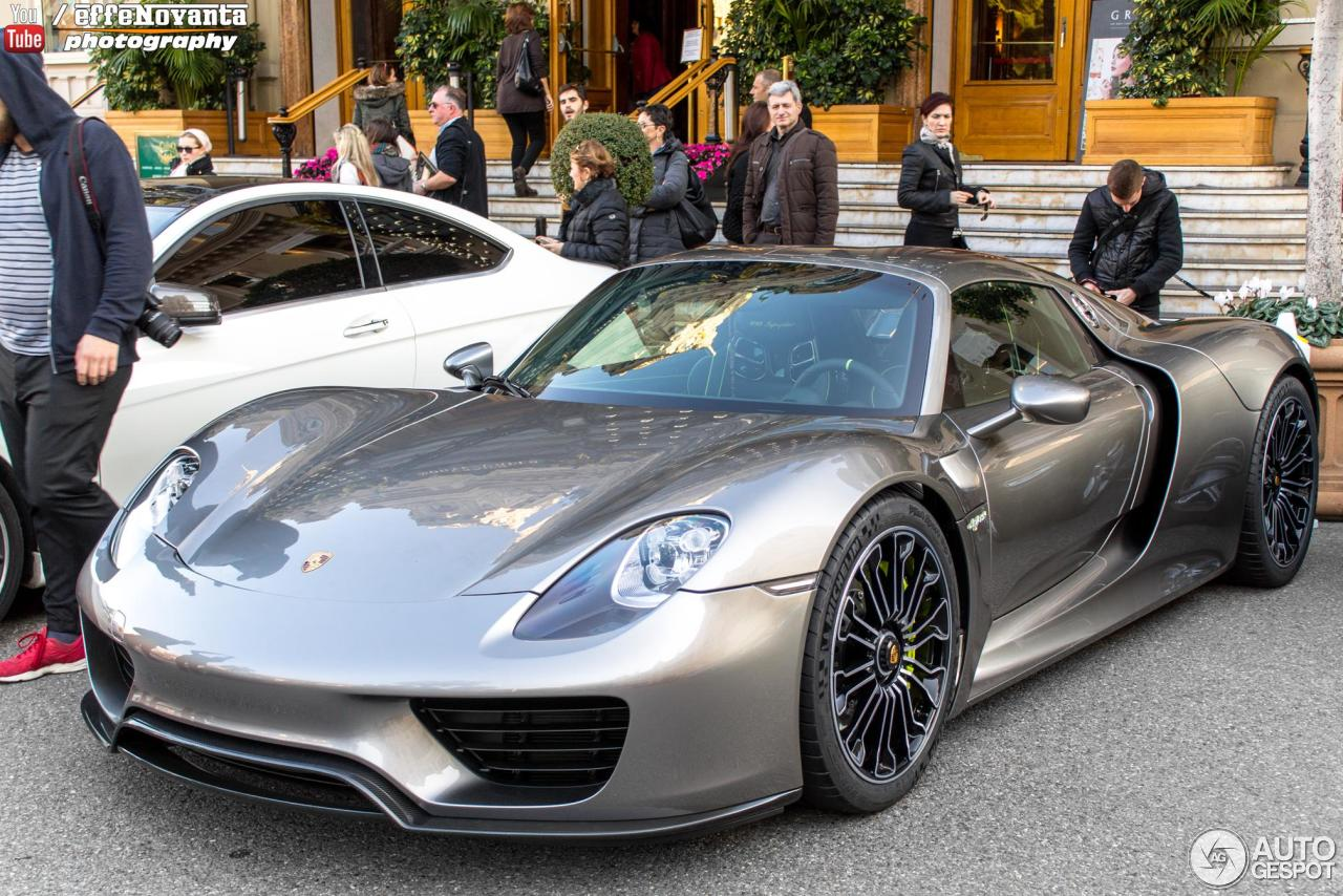 porsche 918 spyder 9 may 2016 autogespot. Black Bedroom Furniture Sets. Home Design Ideas