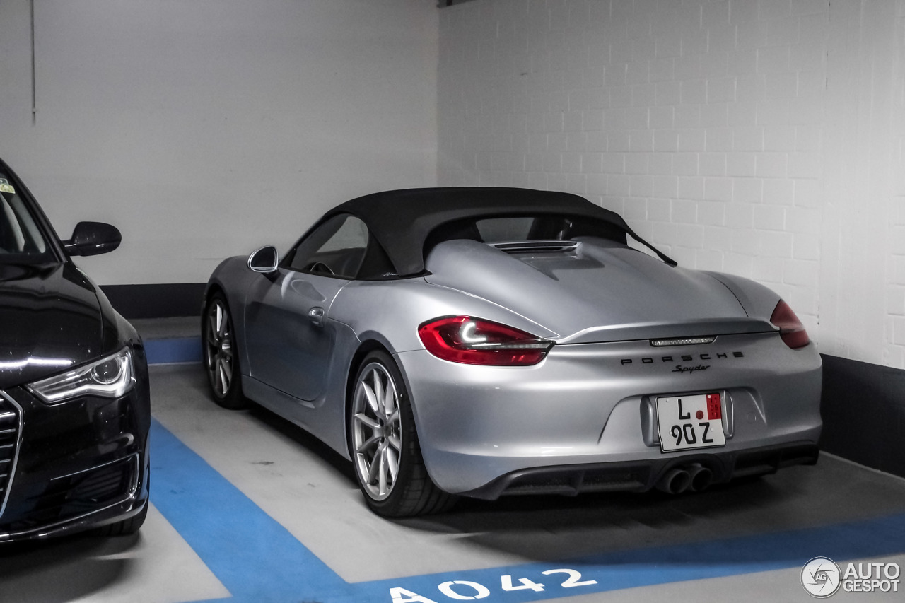 porsche 981 boxster spyder 16 may 2016 autogespot. Black Bedroom Furniture Sets. Home Design Ideas