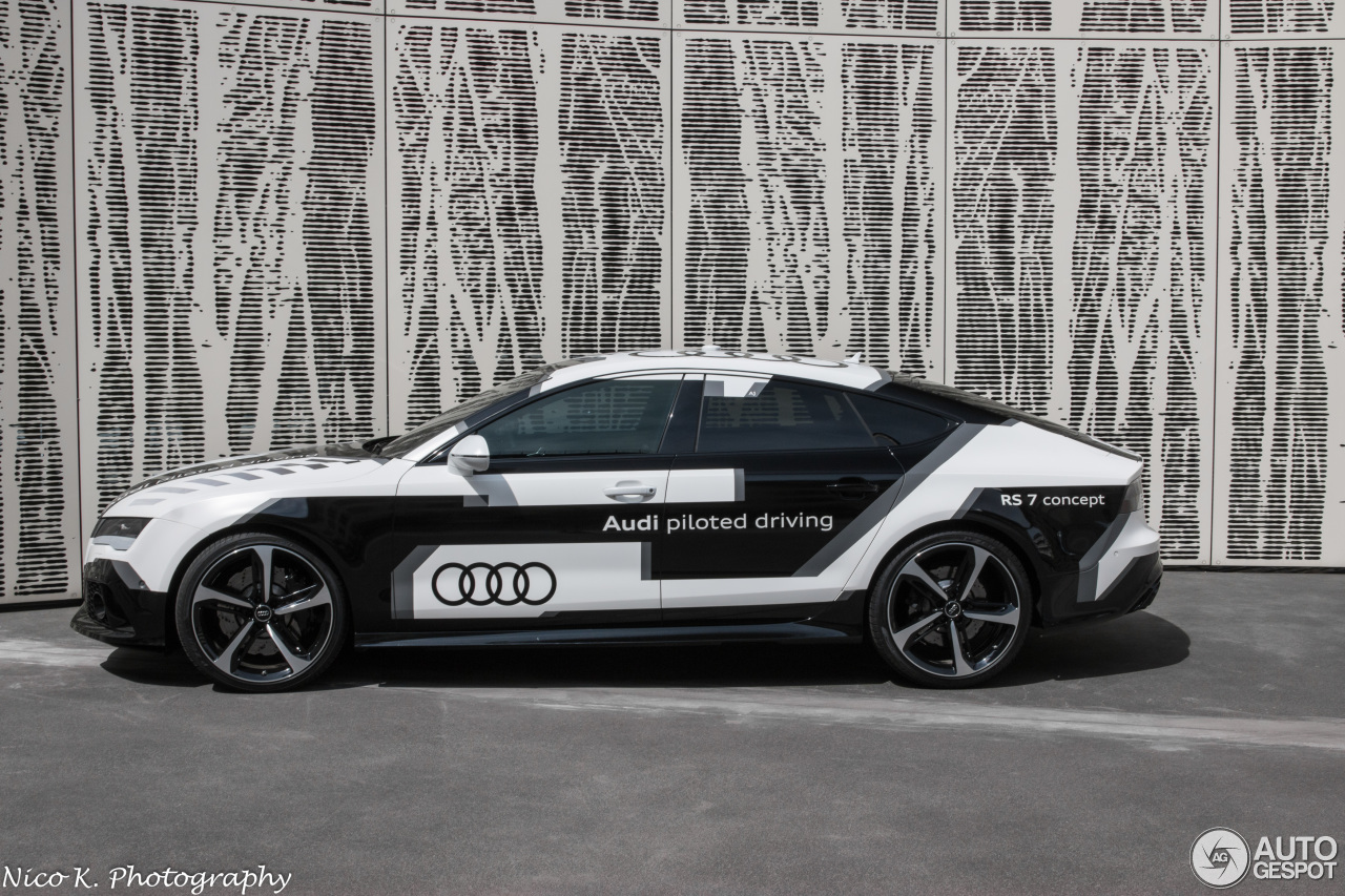 audi rs7 piloted driving concept 20 may 2016 autogespot. Black Bedroom Furniture Sets. Home Design Ideas
