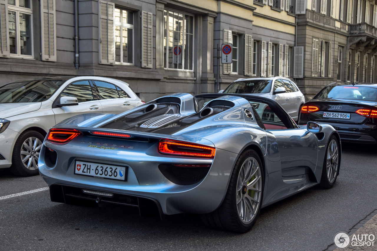 porsche 918 spyder 23 may 2016 autogespot. Black Bedroom Furniture Sets. Home Design Ideas