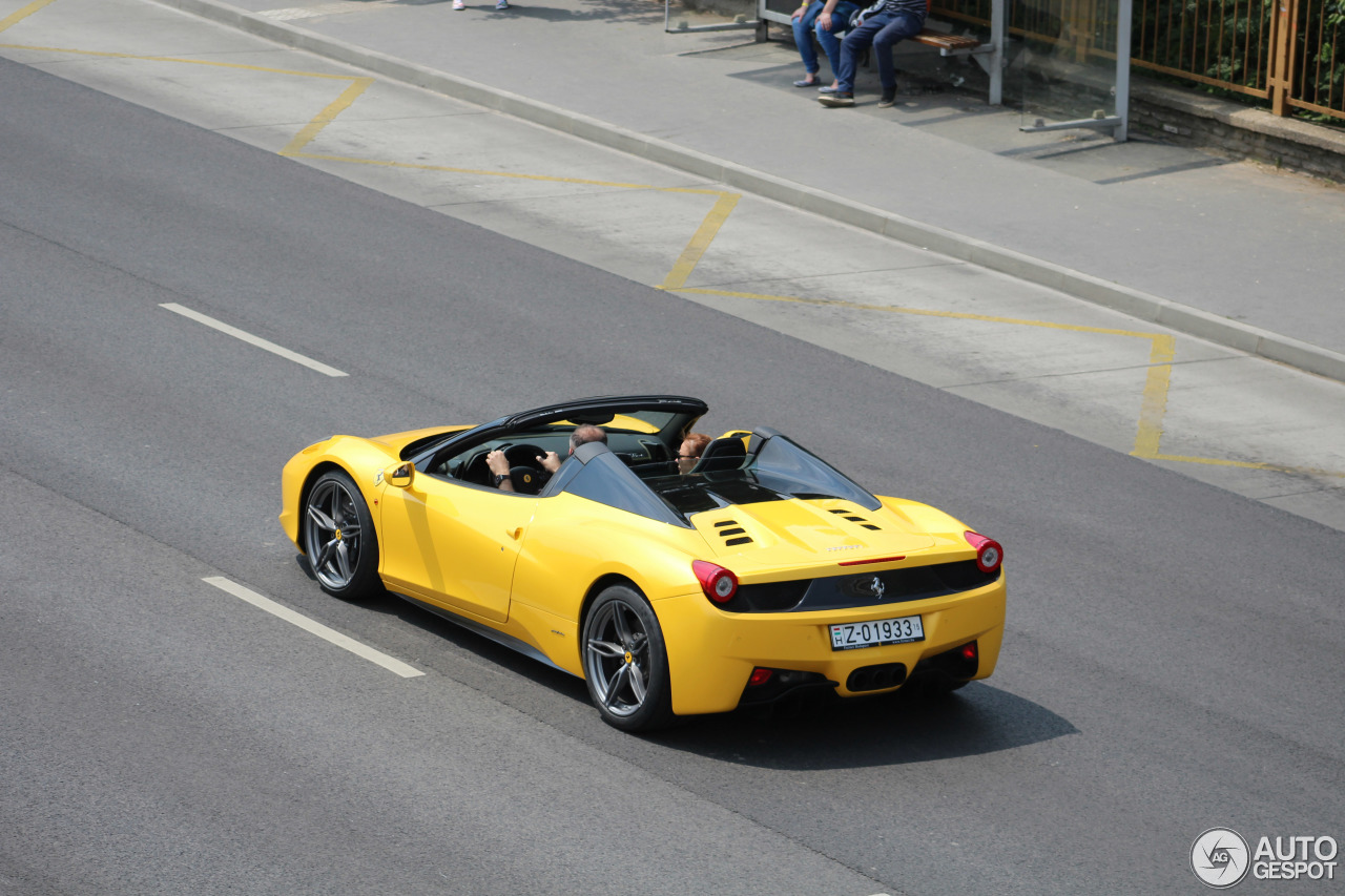 ferrari 458 spider 28 mai 2016 autogespot. Black Bedroom Furniture Sets. Home Design Ideas