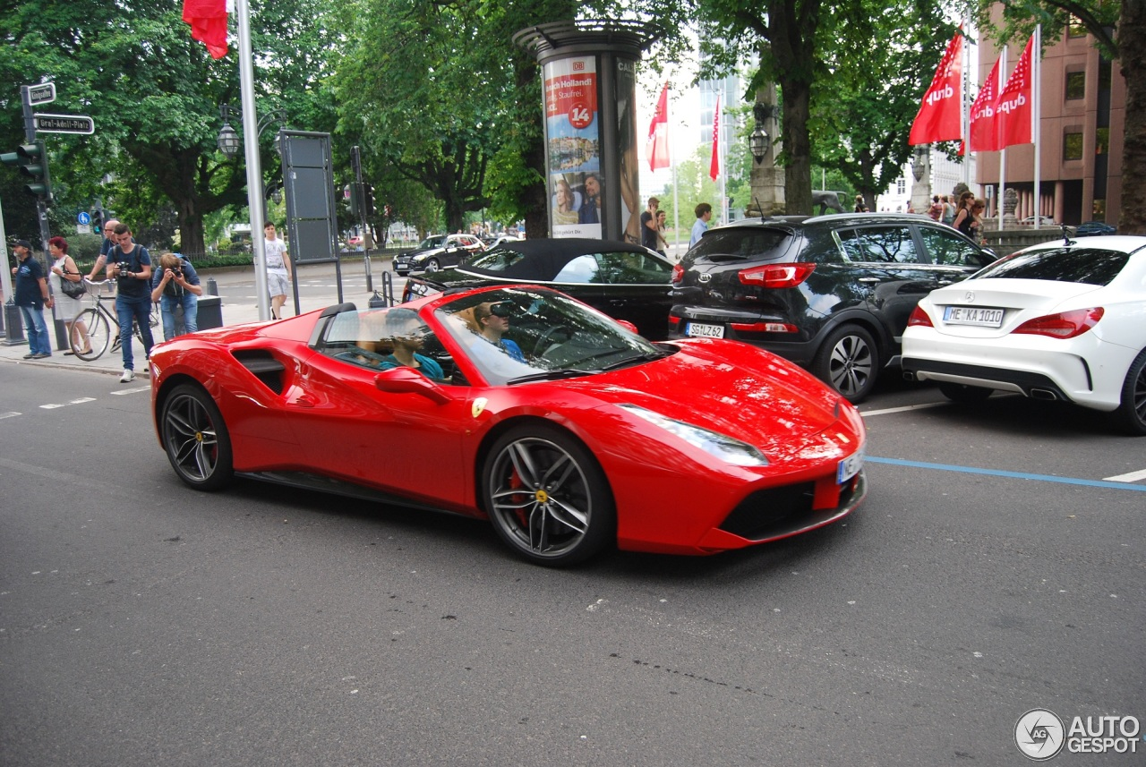 ferrari 488 spider 29 mai 2016 autogespot. Black Bedroom Furniture Sets. Home Design Ideas