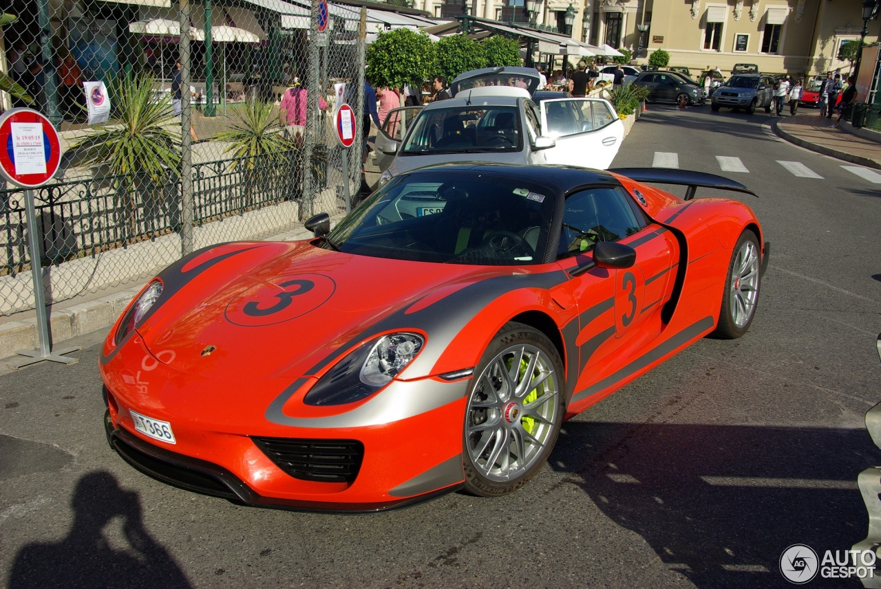porsche 918 spyder weissach package 10 june 2016 autogespot. Black Bedroom Furniture Sets. Home Design Ideas