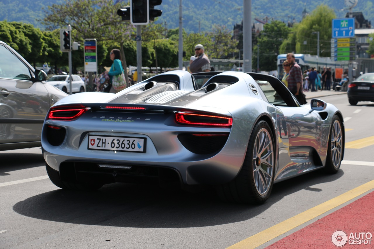 porsche 918 spyder 26 juni 2016 autogespot. Black Bedroom Furniture Sets. Home Design Ideas