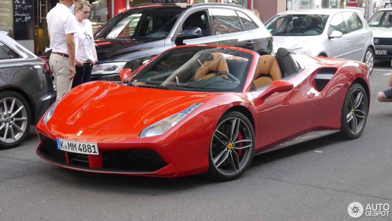 ferrari 488 spider 5 juillet 2016 autogespot. Black Bedroom Furniture Sets. Home Design Ideas