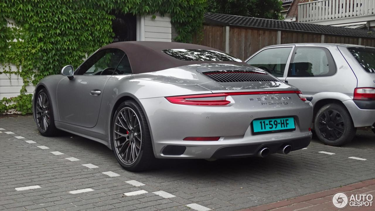 porsche 991 carrera 4s cabriolet mkii 12 july 2016 autogespot. Black Bedroom Furniture Sets. Home Design Ideas