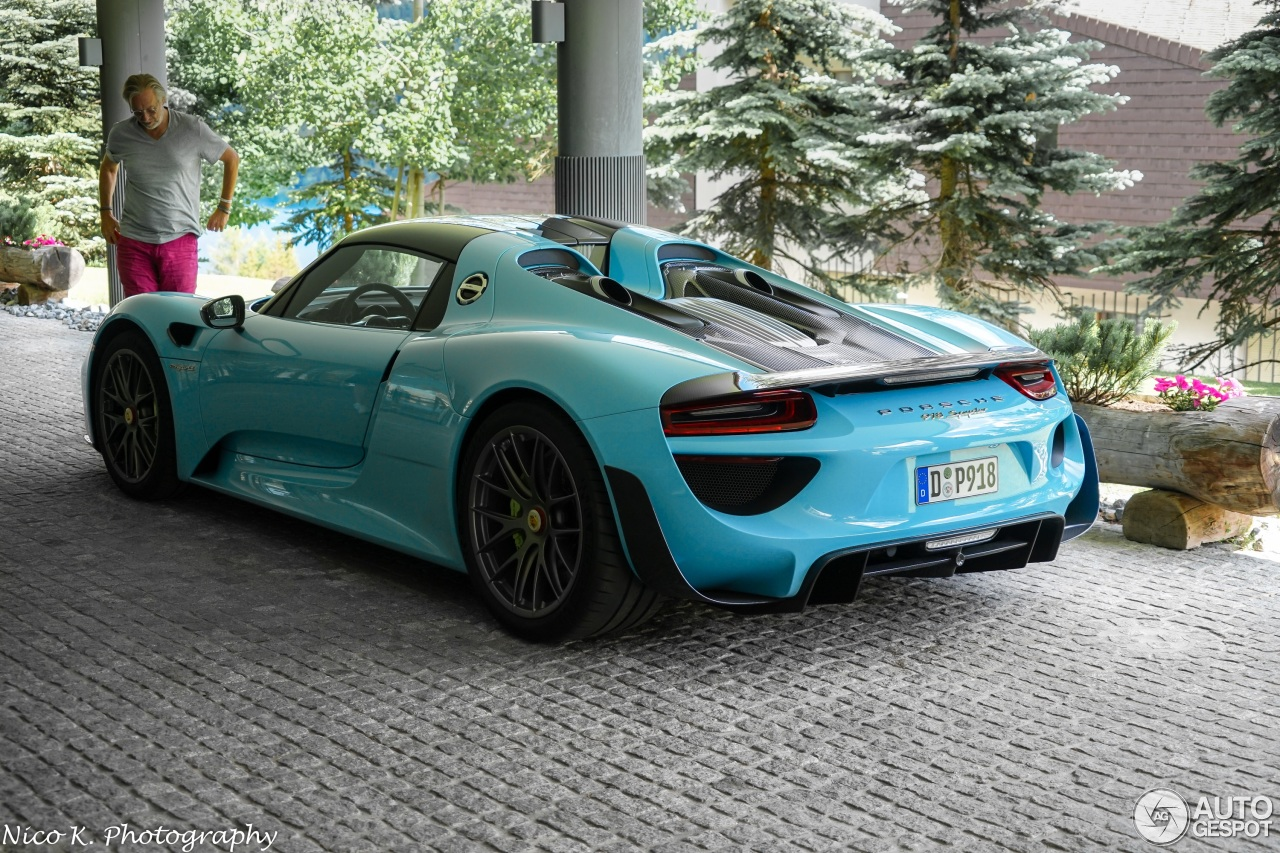 porsche 918 spyder weissach package 14 juli 2016 autogespot. Black Bedroom Furniture Sets. Home Design Ideas
