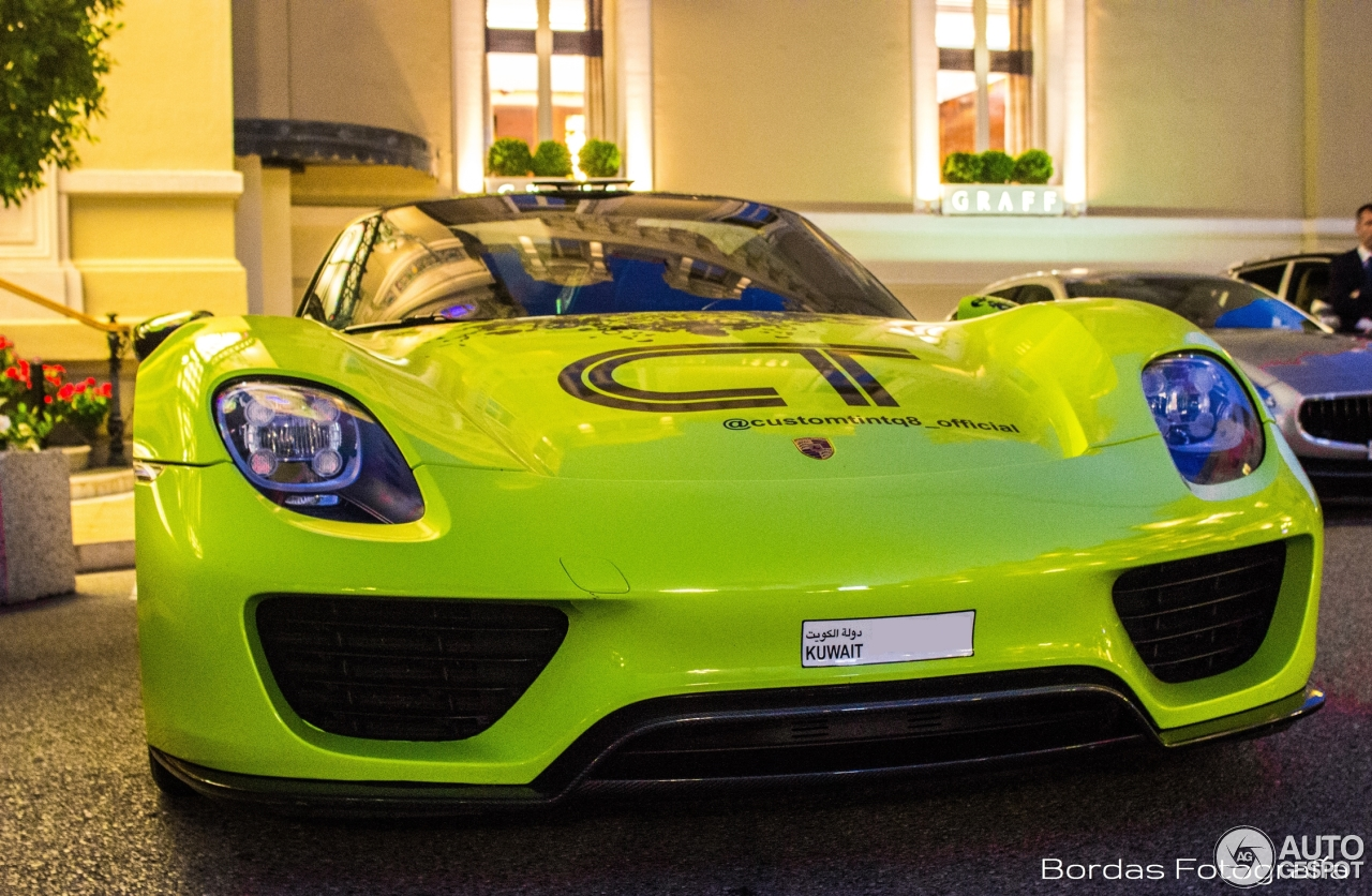 porsche 918 spyder 31 july 2016 autogespot. Black Bedroom Furniture Sets. Home Design Ideas