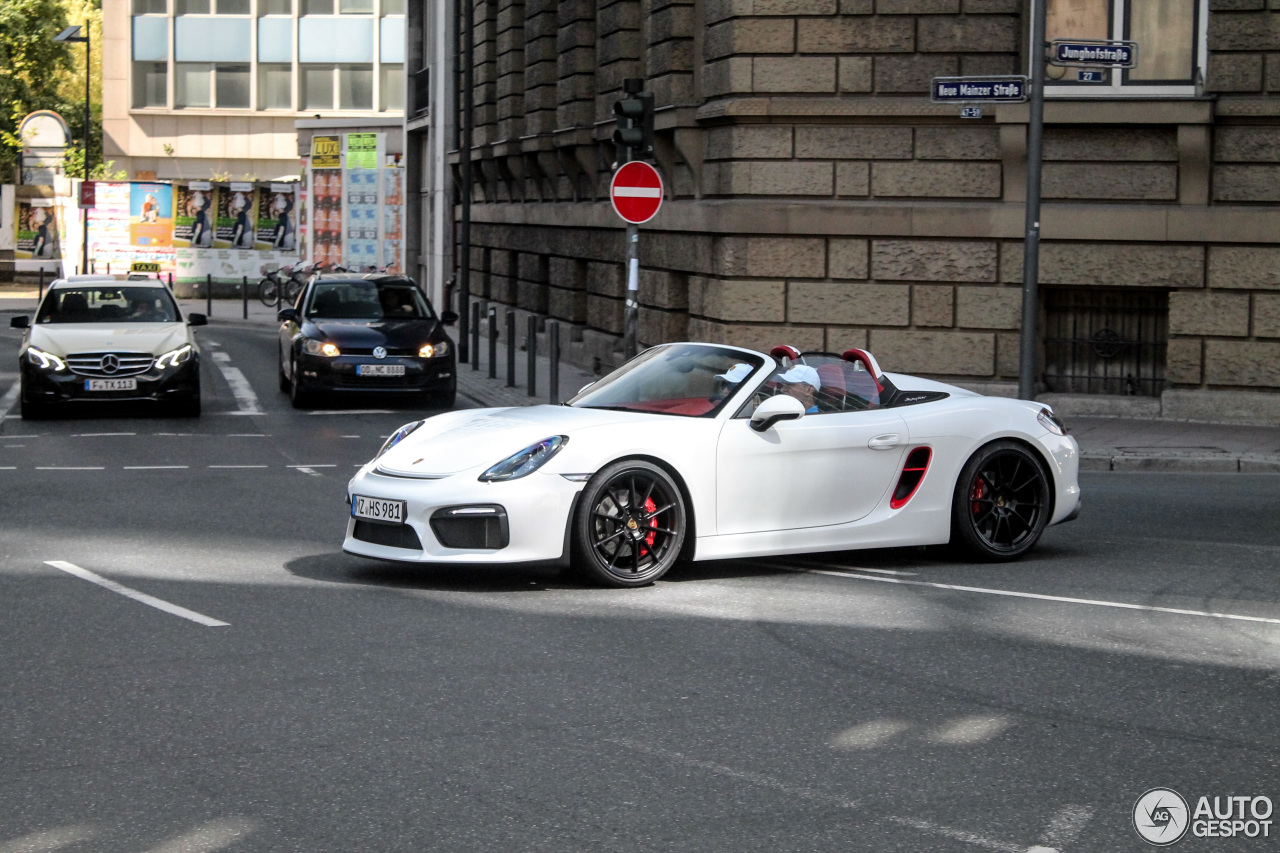 porsche 981 boxster spyder 15 august 2016 autogespot. Black Bedroom Furniture Sets. Home Design Ideas