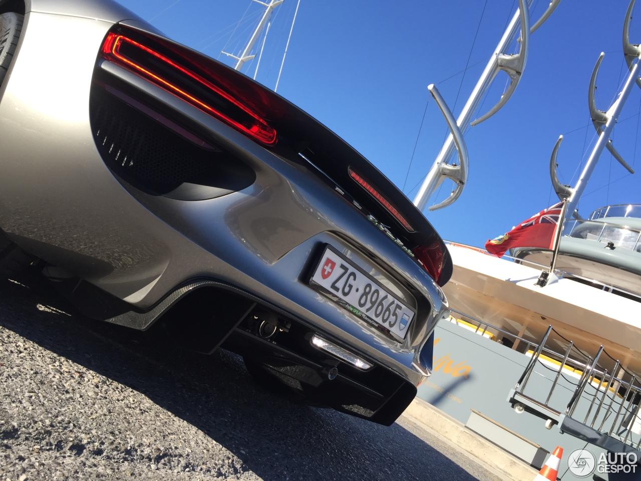 porsche 918 spyder 19 augustus 2016 autogespot. Black Bedroom Furniture Sets. Home Design Ideas