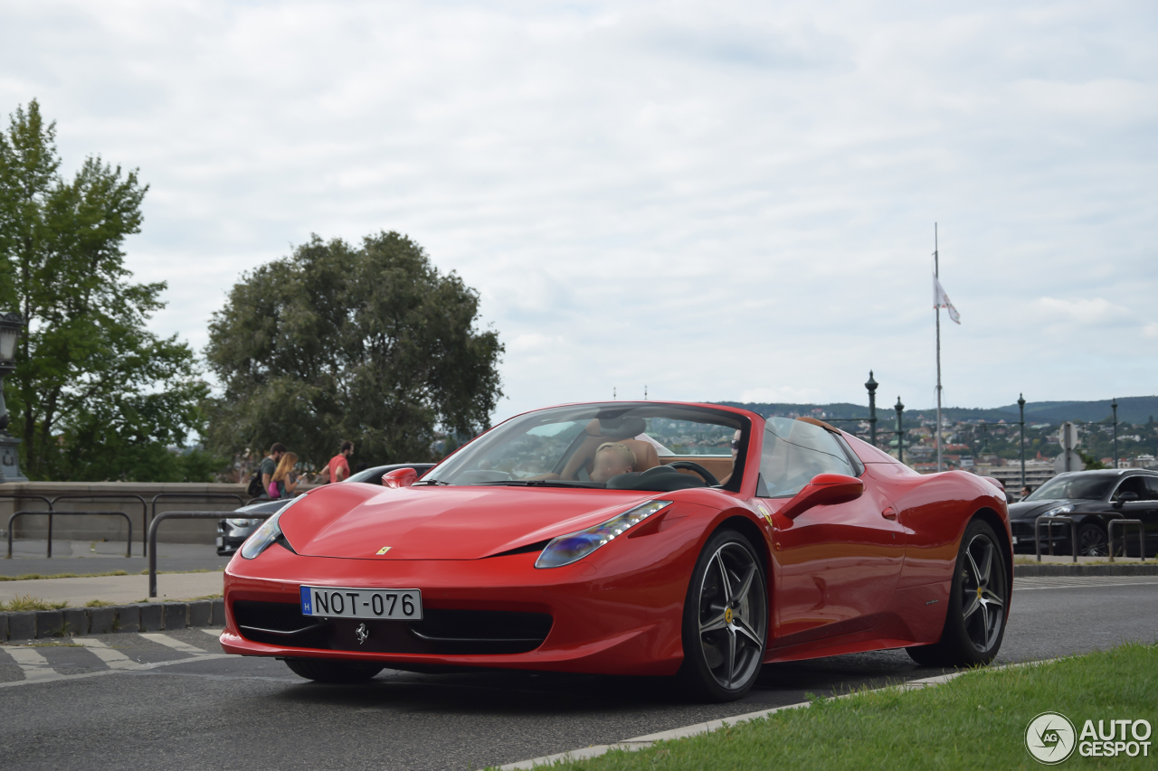 ferrari 458 spider 30 august 2016 autogespot. Black Bedroom Furniture Sets. Home Design Ideas