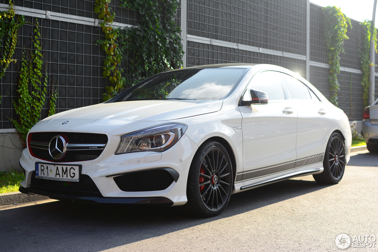 mercedes benz cla 45 amg edition 1 c117 30 august 2016 autogespot. Black Bedroom Furniture Sets. Home Design Ideas