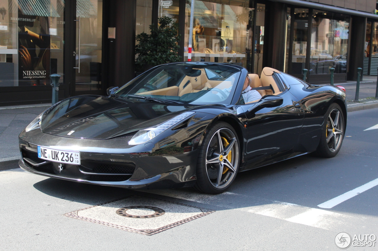 ferrari 458 spider 3 septembre 2016 autogespot. Black Bedroom Furniture Sets. Home Design Ideas