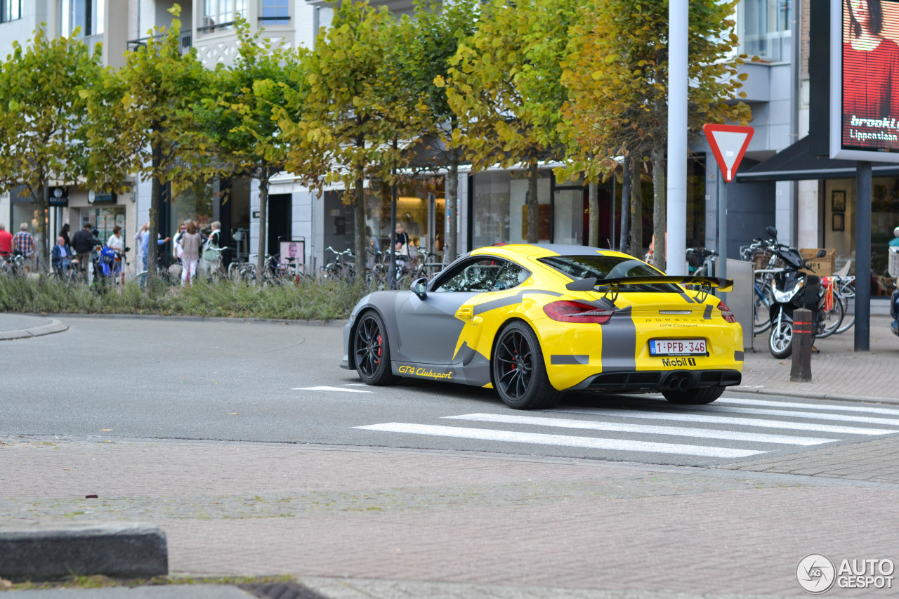 porsche 981 cayman gt4 clubsport 14 september 2016 autogespot. Black Bedroom Furniture Sets. Home Design Ideas