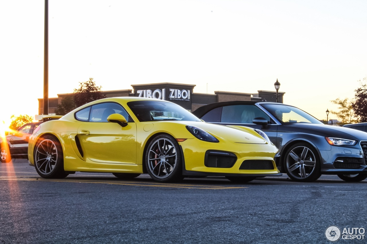 porsche 981 cayman gt4 8 oktober 2016 autogespot. Black Bedroom Furniture Sets. Home Design Ideas