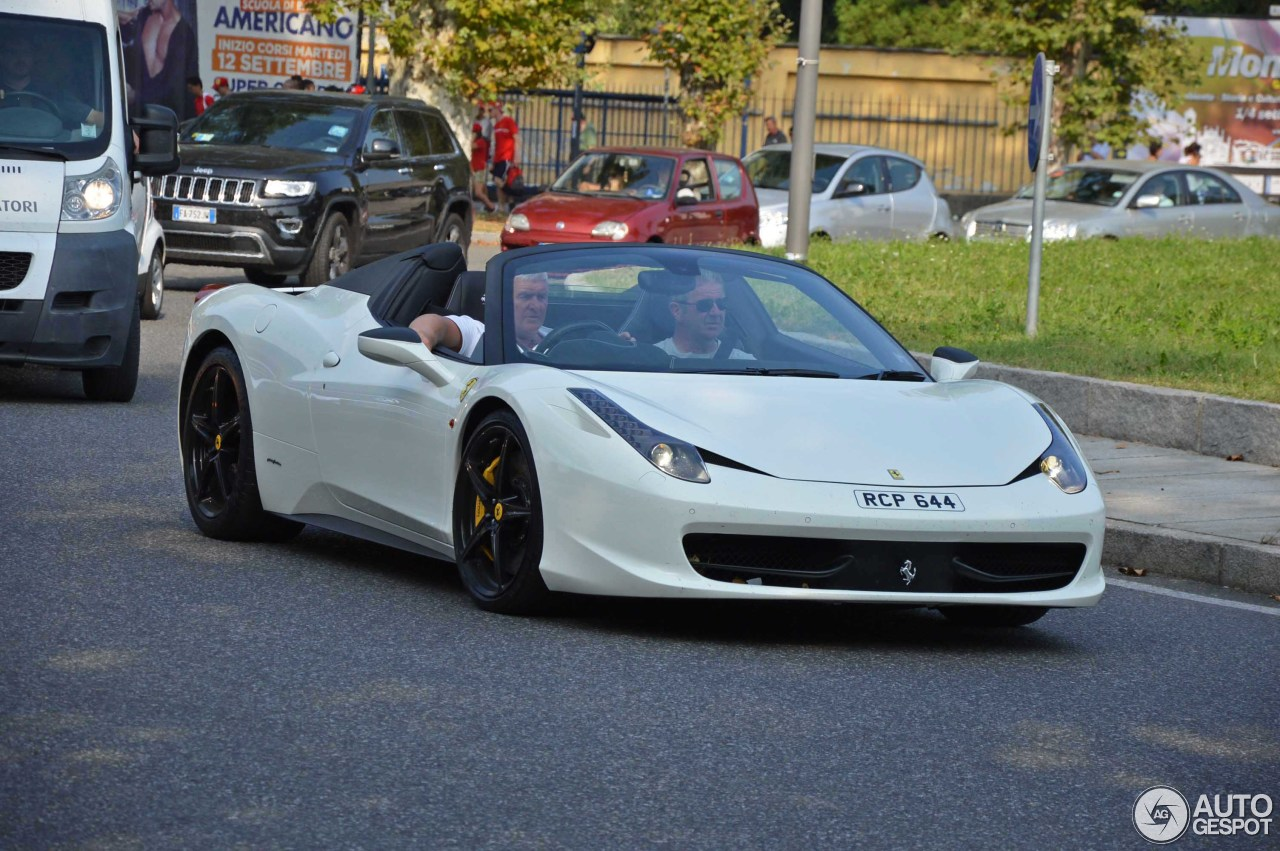 ferrari 458 spider 10 october 2016 autogespot. Black Bedroom Furniture Sets. Home Design Ideas