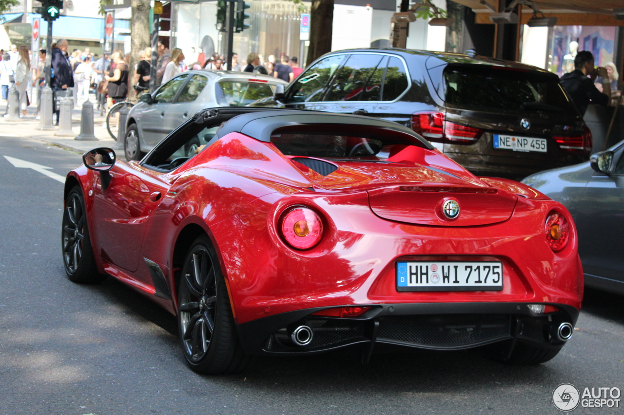 alfa romeo 4c spider 12 october 2016 autogespot. Black Bedroom Furniture Sets. Home Design Ideas