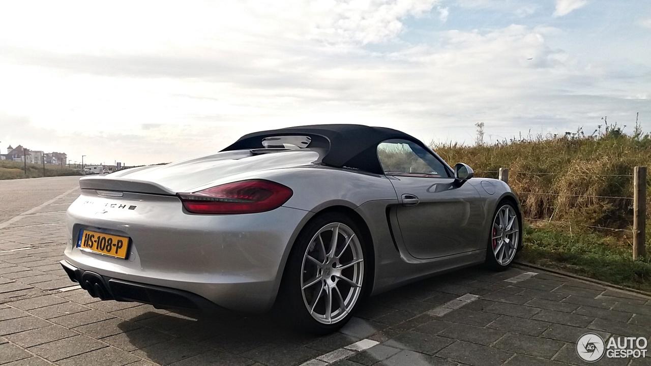 porsche 981 boxster spyder 2 november 2016 autogespot. Black Bedroom Furniture Sets. Home Design Ideas