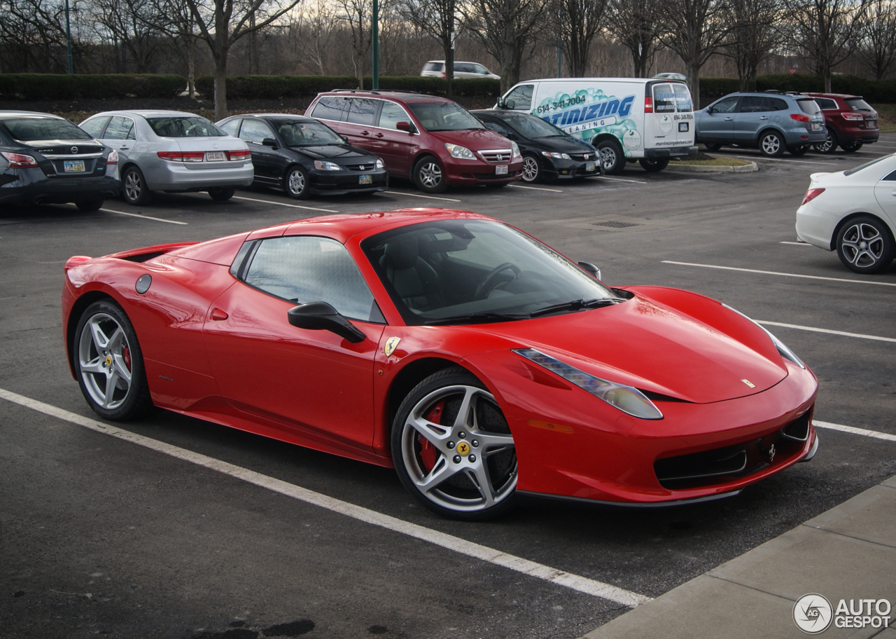 ferrari 458 spider 29 february 2016 autogespot. Black Bedroom Furniture Sets. Home Design Ideas