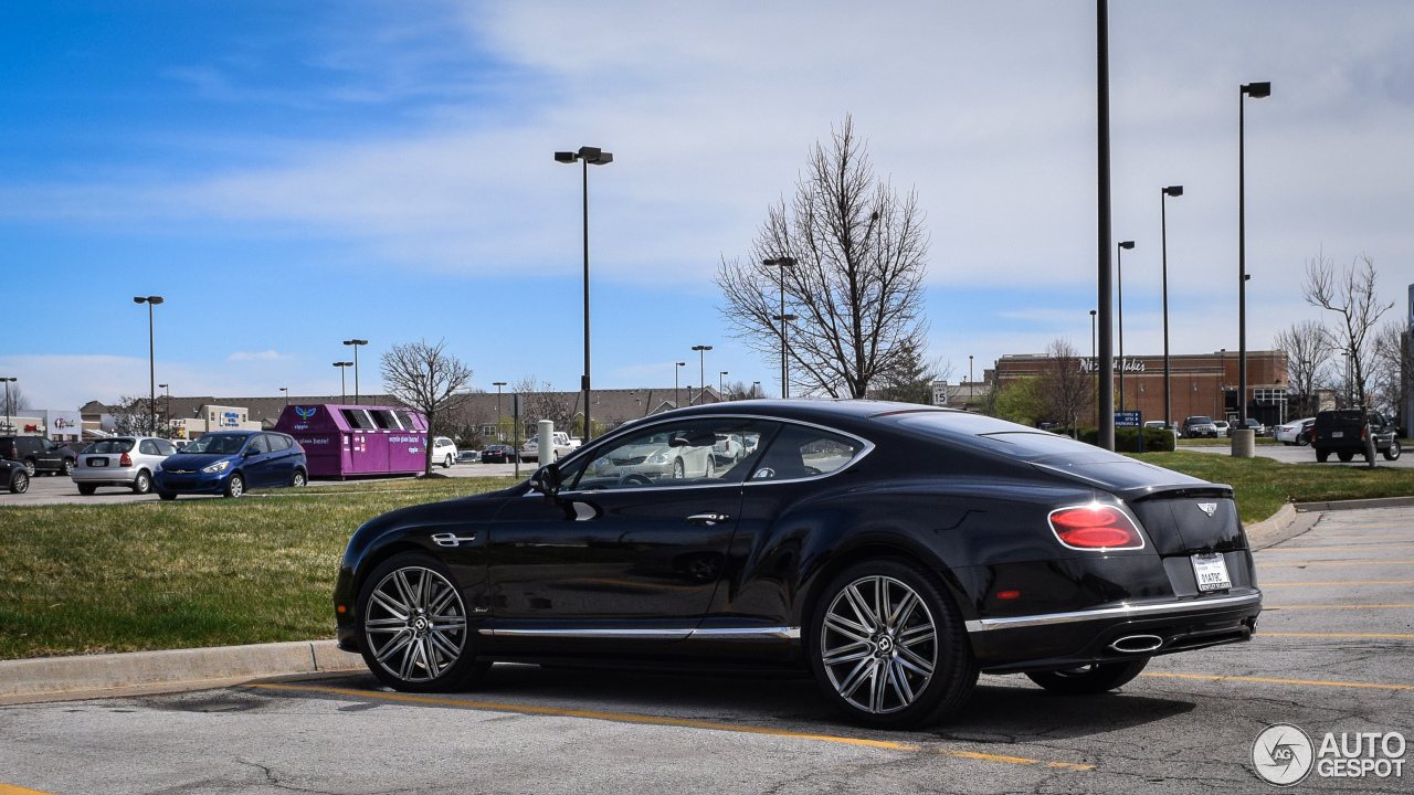 bentley continental gt speed 2016 16 mars 2016 autogespot. Black Bedroom Furniture Sets. Home Design Ideas