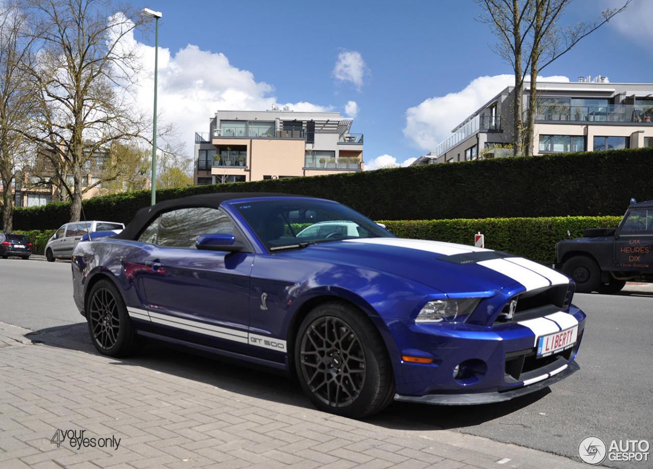 ford mustang shelby gt500 convertible 2014 17 april 2016 autogespot. Black Bedroom Furniture Sets. Home Design Ideas